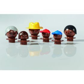 Mobilo Family figures - Dark Brown
