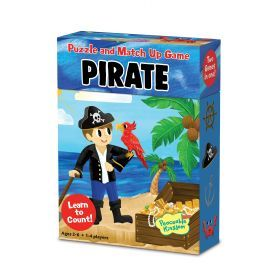Peaceable Kingdom Match Up Game & Puzzle - Pirate
