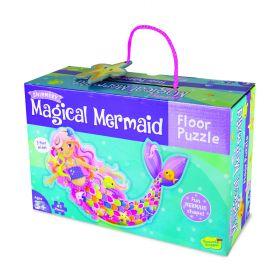 Peaceable Kingdom Floor Puzzle - Mermaid Magic