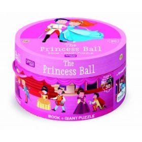 Princess Ball Book and Giant Puzzle Set - 30 pcs