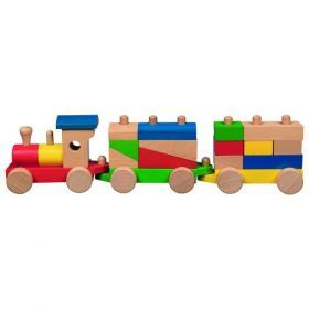Sorting train with blocks