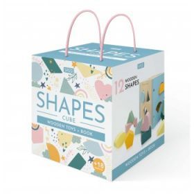 Sassi Wooden Sorting Box and Book - Shapes