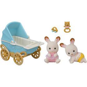 Sylvanian Families Chocolate Rabbit Twins Set (v2)