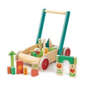 Tender Leaf Walker Wagon with Blocks
