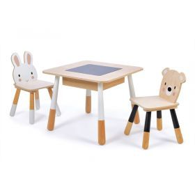 Tender Leaf Forest Kids Wooden Table and 2 Chairs