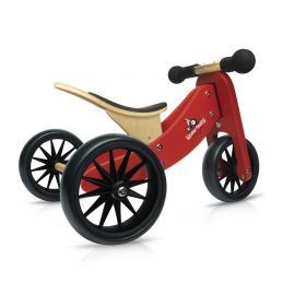 Red Kinderfeets Tiny Tot trike and balance bike - 2 in 1