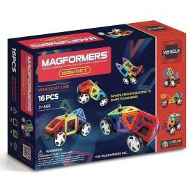 MAGFORMERS Vehicle WOW set 16 Pcs