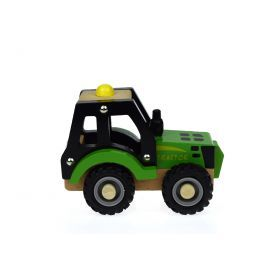 Wooden Green Tractor