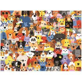 Crocodile Creek 500pc Family Puzzle Dogs