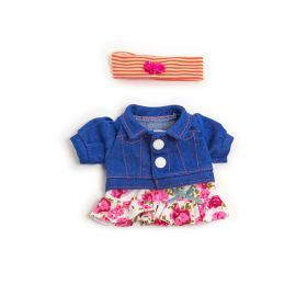 Miniland Clothing Spring flower set, 21 cm