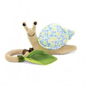 Snail Crawling Critter - Blue Floral