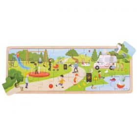 In The Park Wooden Puzzle 24 Pieces