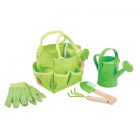 Small Garden Child's Tote Bag with Watering Can & Tools