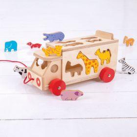 Bigjigs Toys - Animal Shape Sorting Lorry