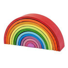 Large Wooden Stacking Rainbow