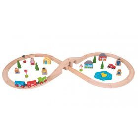 Bigjigs - Figure of Eight Train Set 40 Pieces