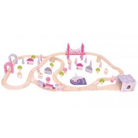 Bigjigs Fairy Town Train Set 75pcs