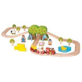 Bigjigs Farm Train Set 44 pieces