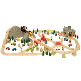 Bigjigs Mountain Railway Set 112pcs