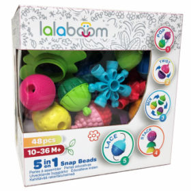 Lalaboom 48 piece snap beads