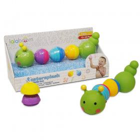 Lalaboom 8 Pcs Beads Caterpillar Bath Toy