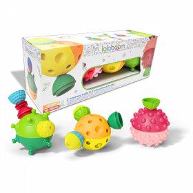 Lalaboom 3 Sensory Balls With 12 Pcs Beads