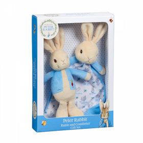 Peter Rabbit Rattle & Comfort Blanket Gift Set