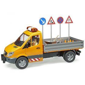 Bruder Mercedes Benz Sprinter Council Vehicle with Worker