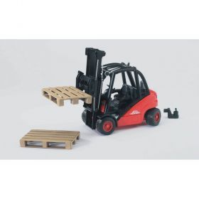 Bruder Linde fork lift H30D with 2 pallets