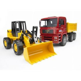 Bruder MAN Construction Truck With Road Loader