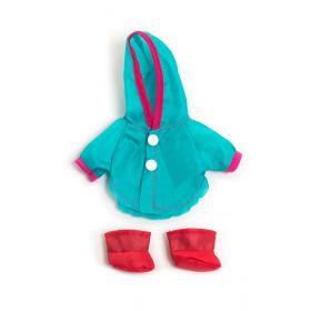 Miniland Clothing Raincoat & Wellingtons, 21 cm