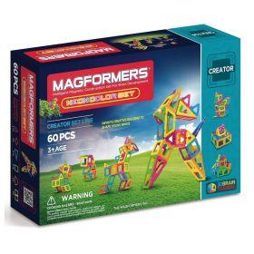 MAGFORMERS Creator - Neon Colour Set - 60 Pcs