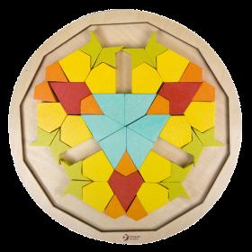 Mandala Blocks Wooden Puzzle