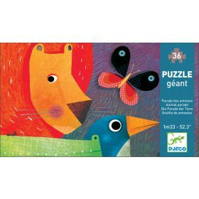 Djeco Giant Animal Parade Puzzle - 36 pieces