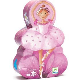 Djeco Ballerina with a Flower Silhouette Puzzle (36pces)