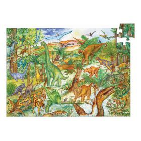 Djeco Dinosaurs Observation Puzzle 100pce - Slight box damage