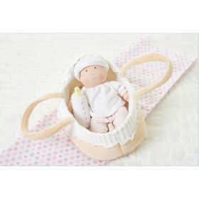 Baby Doll with Carry Cot, Bottle & Blanket