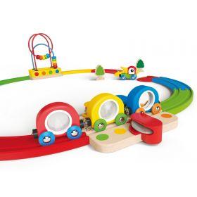 Hape Sights and Sounds Railway Set 19 pieces