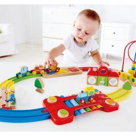 Hape Rainbow Puzzle Railway 30 Pieces
