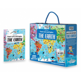 Travel Learn and Explore Puzzle & Book Set - The Earth