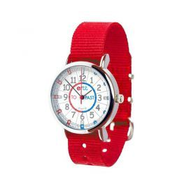 EasyRead Time Teacher Watch-Water Resistant (splash proof)-Past -To-Red-Red and Blue