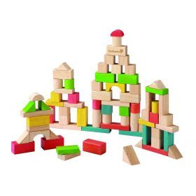 EverEarth Wooden Building Blocks - 50 pcs