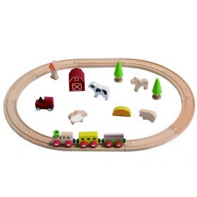 Everearth Farm Train Set for pretend play