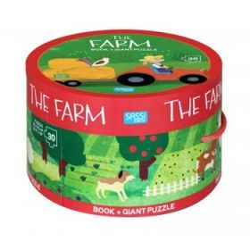 The Farm Book & Giant Puzzle, 30 pcs