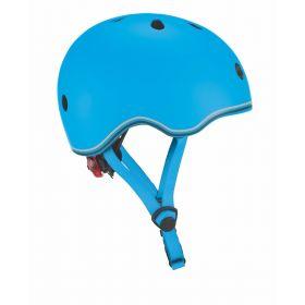Globber Helmet w/Flashing Light - Sky Blue 46-51cm