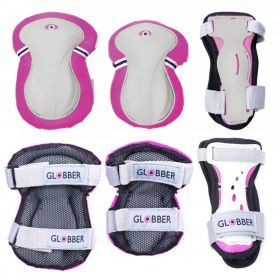 Child's Knee, Wrist and Elbow Pads XXS - Pink - Globber