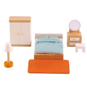 Hape All Seasons Dollhouse Master Bedroom