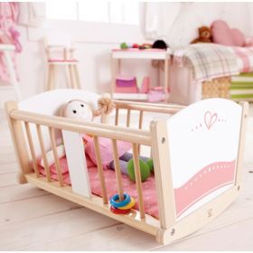 Hape Rock-a-bye Baby Cradle Dolly Cot