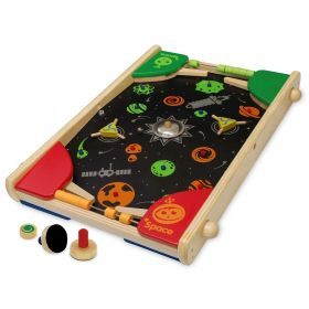 2 In 1 Super Shooter Wooden Pinball & Air Hockey Table