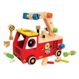Fire Fighter Builder with Wooden Tools